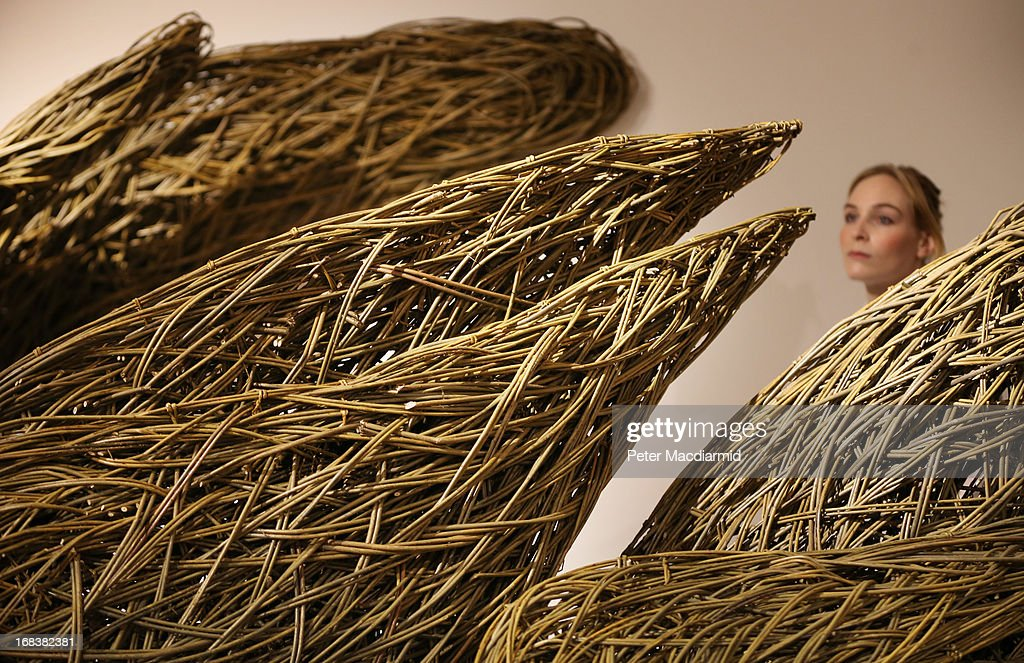 A woven willow installation called Spatial Place is displayed at the Collect art fair at Saatchi Gallery on May 9, 2013 in London, England. Celebrating its 10th anniversary this year the Collect international art fair for contemporary objects, brings together galleries representing the work of numerous artists. Thirty two galleries and eleven Project Space artists will come together in the Saatchi Gallery from 10-13th May 2013.