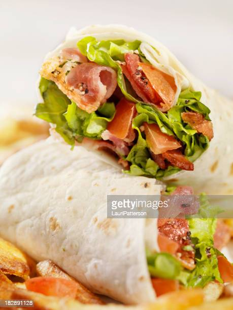 BLT Wrap Sandwich French Fries