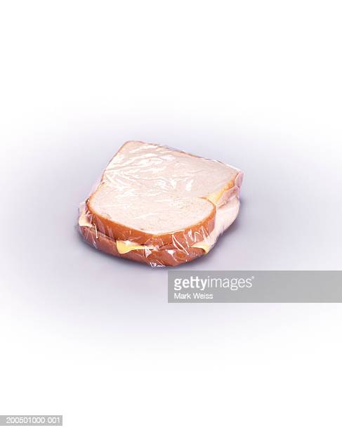 Wrapped ham and cheese sandwich