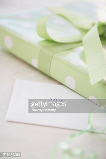 Wrapped Present and Greeting Card : Photo