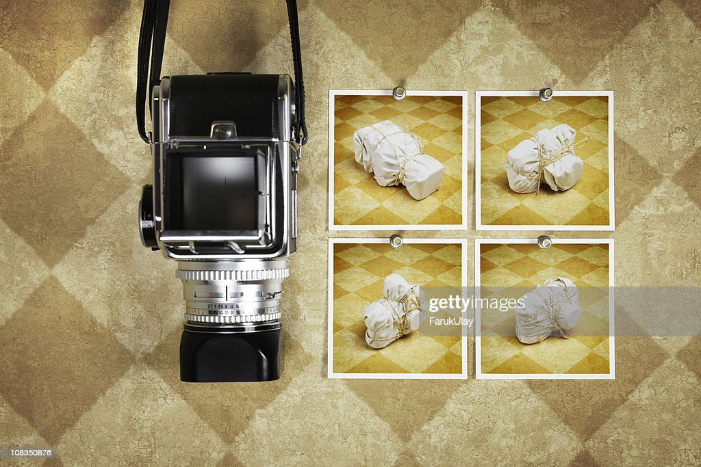 Wrapped Retro Cameras : Stock Photo