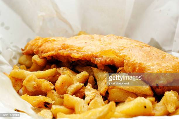 wrapper of english fish and chips