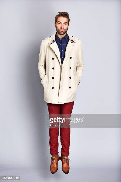 Wrapping his confidence in a coat