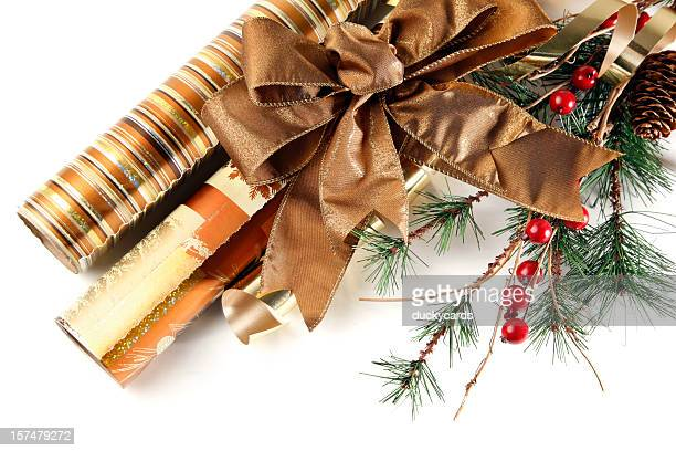 Wrapping Paper and Christmas Decorations