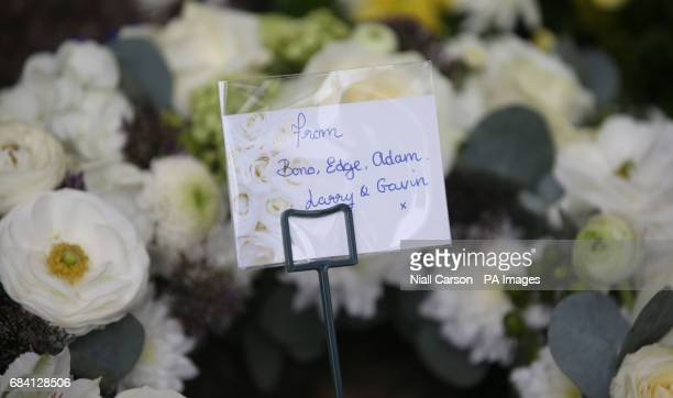 A wreath from the band U2 is seen during a memorial ceremony in Dublin's Talbot Street marking the anniversary of the bombings in Dublin and Monaghan...