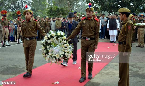 Wreath laying ceremony of SubInspector Imran Tak was performed with full honours in Jammu and Kashmirs Udhampur The SubInspector was killed in a...