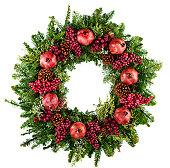 Wreath on black background