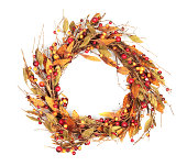 Wreath on White