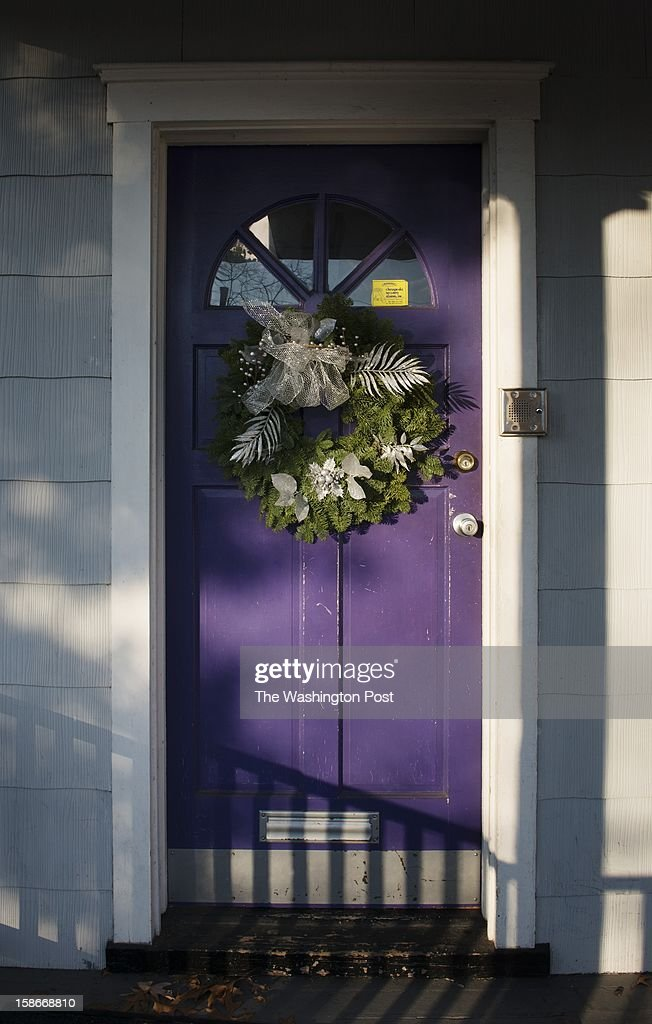 Wreaths adorn doors on residences in the Washington, DC on Dec. 19.