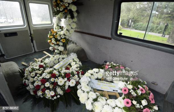 Wreaths from the Netherlands' Royal House Princess Beatrix and from the Netherlands ambassador to Argentina and wife arrive to the Memorial park on...