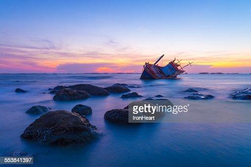 Wreck fishing boat