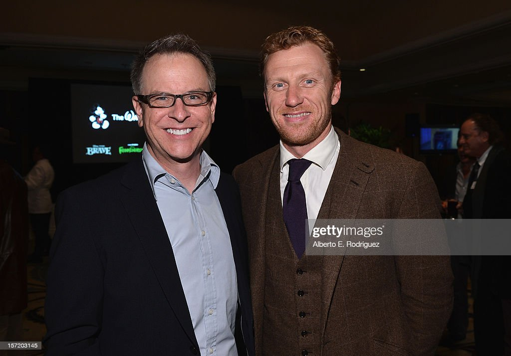 'Wreck- It Ralph' director Rich Moore (L) and actor <a gi-track='captionPersonalityLinkClicked' href=/galleries/search?phrase=Kevin+McKidd&family=editorial&specificpeople=808099 ng-click='$event.stopPropagation()'>Kevin McKidd</a> (R) attend Walt Disney Studios 2012 animation celebration at The Beverly Hills Hotel on November 29, 2012 in Beverly Hills, California.