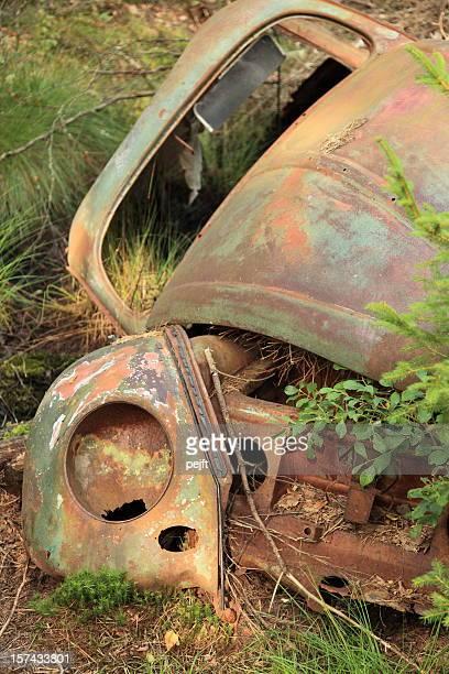 Wreck of a classic car