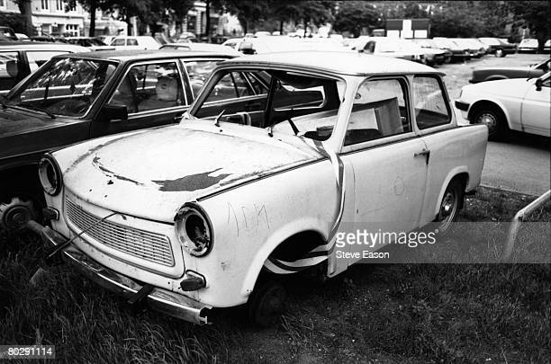 A wreck of a Trabbant car in Berlin circa 1993 The Trabbant was seen as a symbol of Socialist planning in East Germany