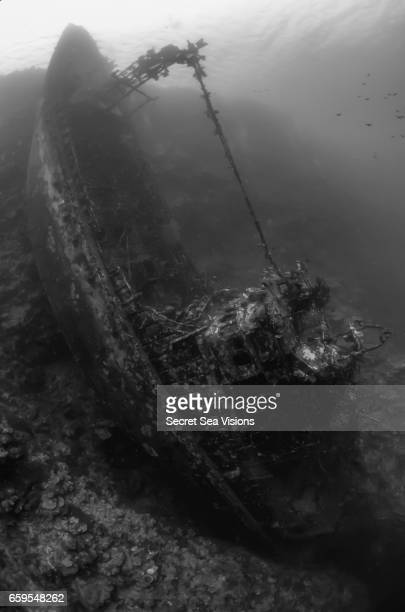 Wreck of fishing trawler