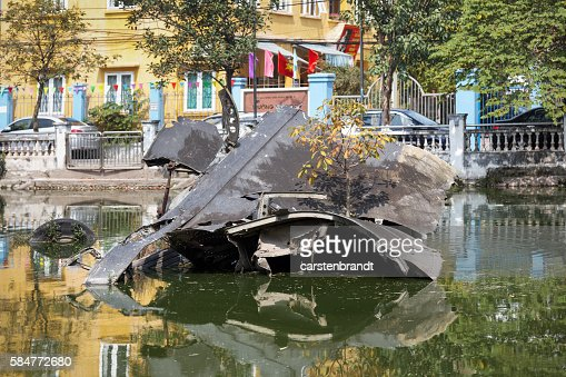 Wreckage of B-52 Stratofortress