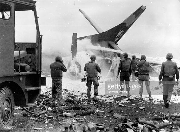 Vietnam Mortar Fire : Wrecked us plane pictures getty images
