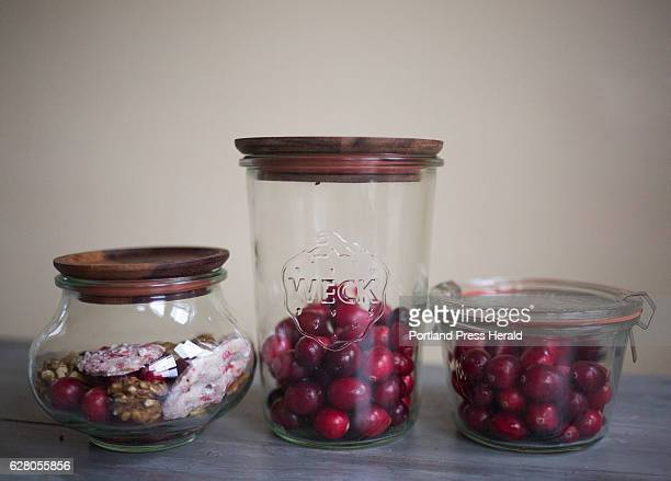 Wrek jars filled with holiday treats