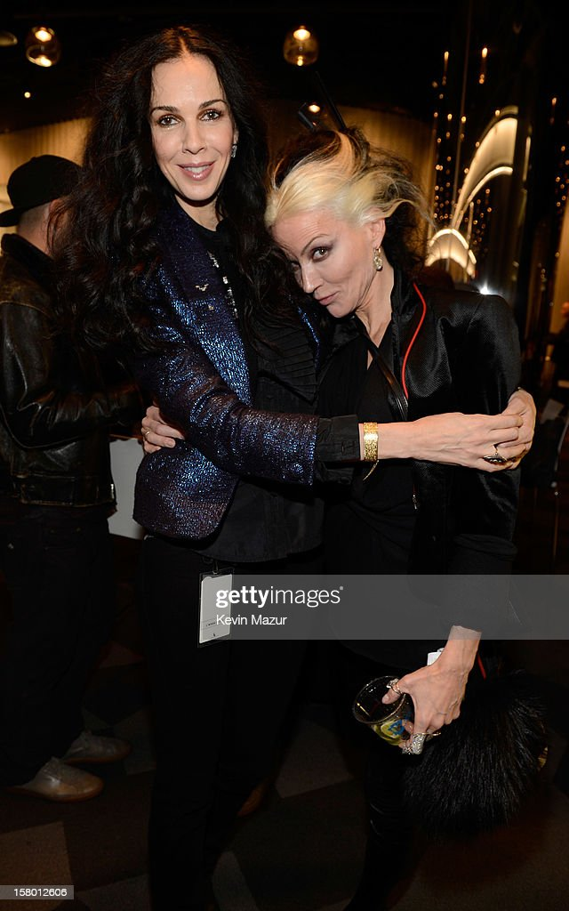 L'Wren Scott and Daphne Guinness backstage at Barclays Center of Brooklyn on December 8, 2012 in New York City.
