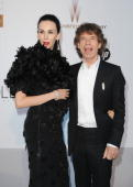 Wren Scott and husband Mick Jagger of the Rolling Stones arrives at amfAR's Cinema Against AIDS 2010 benefit gala at the Hotel du Cap on May 20 2010...