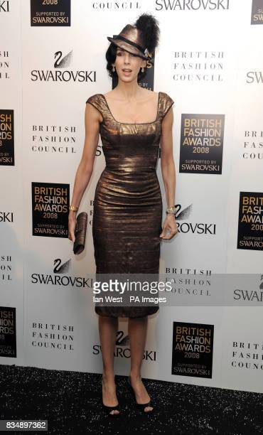 L'Wren Scott arrives for the 2008 British Fashion Awards at the Royal Horticultural Hall 80 Vincent Square London