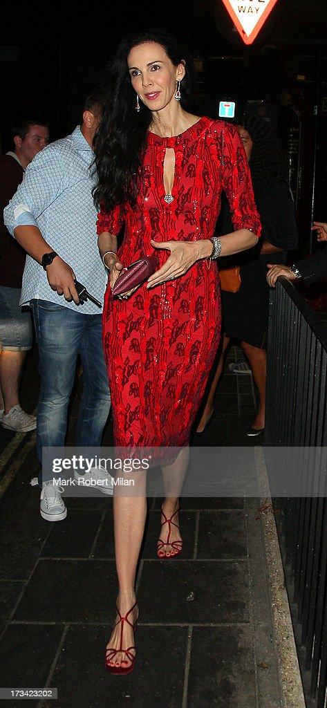 L'Wren Scott at Lou Lou's club on July 13, 2013 in London, England.