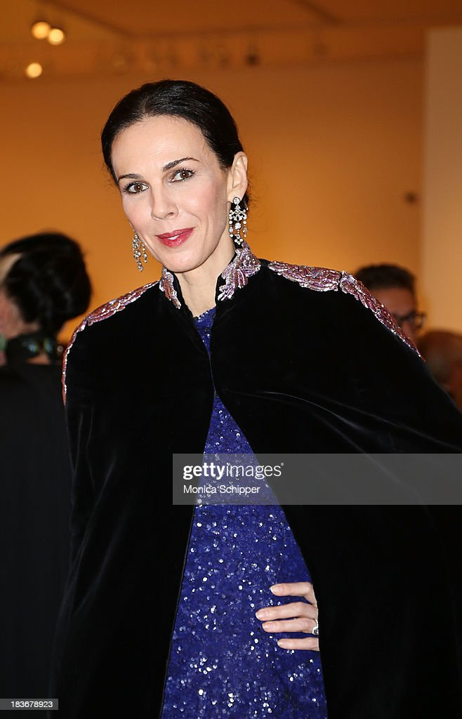L'wren Scott attends 2013 'Take Home A Nude' Benefit Art Auction And Party at Sotheby's on October 8, 2013 in New York City.