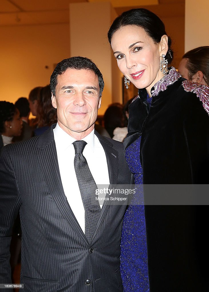 L'wren Scott (R) attends 2013 'Take Home A Nude' Benefit Art Auction And Party at Sotheby's on October 8, 2013 in New York City.