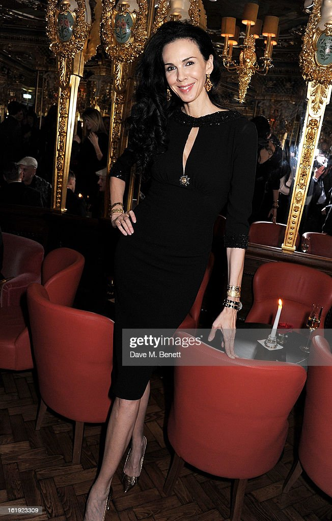 L'Wren Scott attends a private dinner hosted by L'Wren Scott & Mick Jagger celebrating her 2013 fall/winter collection at the Cafe Royal hotel on February 17, 2013 in London, England.