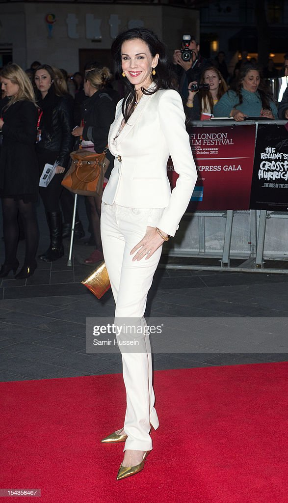 L'Wren Scott attends the Premiere of 'Crossfire Hurricane' during the 56th BFI London Film Festival at Odeon Leicester Square on October 18, 2012 in London, England.