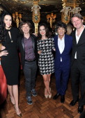 Wren Scott Sally Humphreys Ronnie Wood Mick Jagger and Tom Hooper attend the L'Wren Scott cocktail party during London Fashion Week Fall/Winter...