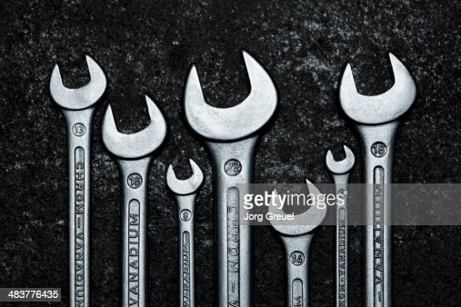 Wrenches in various sizes