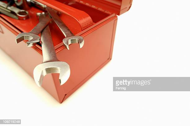 Wrenches on a toolbox