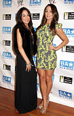 Wresters Nikki Bella and Brie Bella of The Bella Twins at the WWE and The Creative Coalition's Be A STAR bullying prevention rally at James Madison...