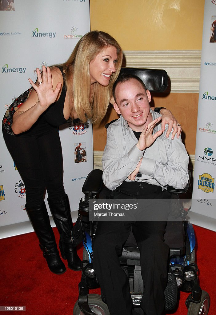 WWE wrestler Alicia Webb, guest and 'All in for CP ' founder Jacob Zalewski attend the 5th Annual 'All in for CP' Celebrity Poker tournament at the Venetian Hotel and Casino Resort on December 8, 2012 in Las Vegas, Nevada.