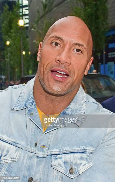 US wrestler and actor Dwayne Johnson during the Baywatch European Premiere Party on May 31 2017 in Berlin Germany