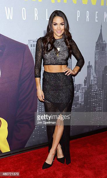 Wrestler Brie Bella attends the 'Trainwreck' New York premiere at Alice Tully Hall on July 14 2015 in New York City