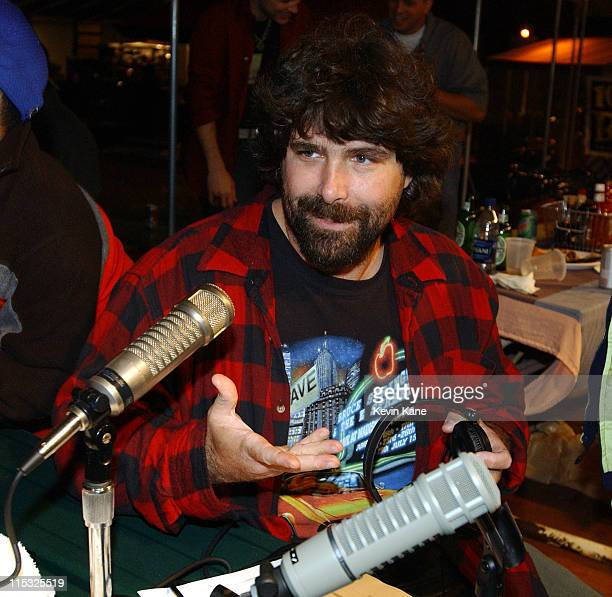 WWF Wrestler Cactus JackMick Foley during WBLI Summer Jam 2003 Backstage at Jones Beach Amphitheatre in Wantagh New York United States