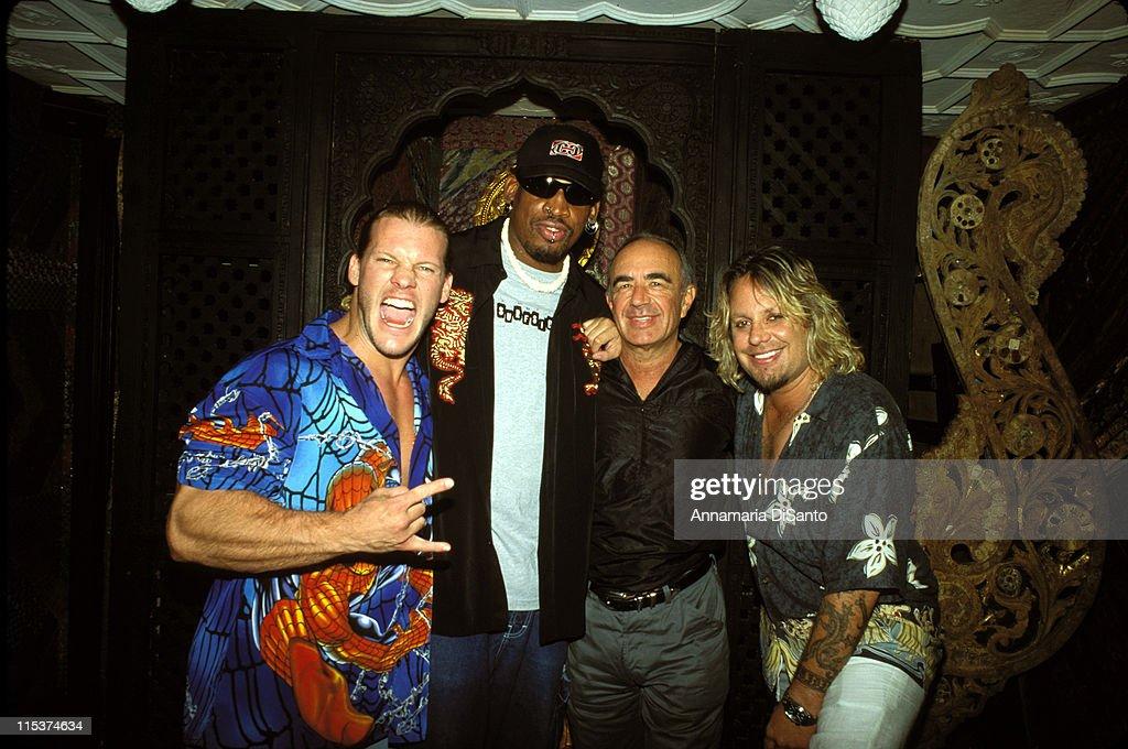 Wrestler Chris Jericho, Dennis Rodman, attorney Robert Shapiro & Vince Neil