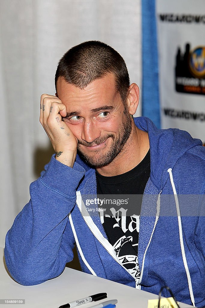 Wrestler CM Punk attends the Wizard World Austin Comic Convention at the Austin Convention Center on October 27, 2012 in Austin, Texas.