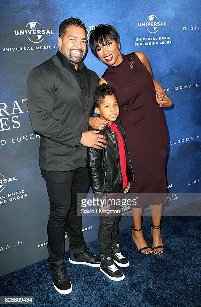 Wrestler David Otunga singer Jennifer Hudson and David Otunga Jr attend the 2016 March of Dimes Celebration of Babies at the Beverly Wilshire Four...