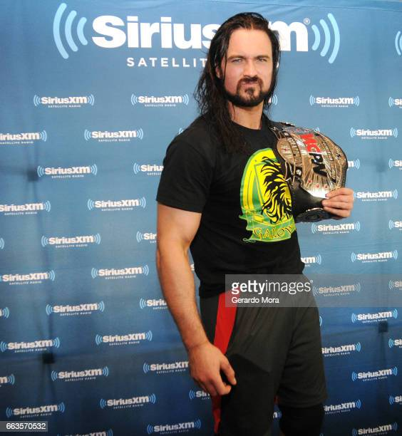 Wrestler Drew Galloway poses during SiriusXM's Busted Open Live From WrestleMania 33 on April 1 2017 in Orlando City