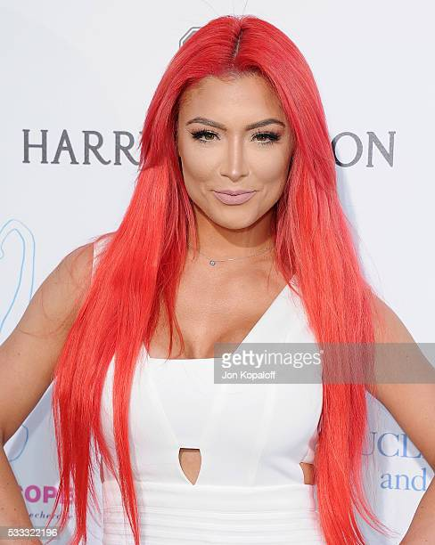 WWE wrestler Eva Marie arrives at the Kaleidoscope Ball at 3LABS on May 21 2016 in Culver City California