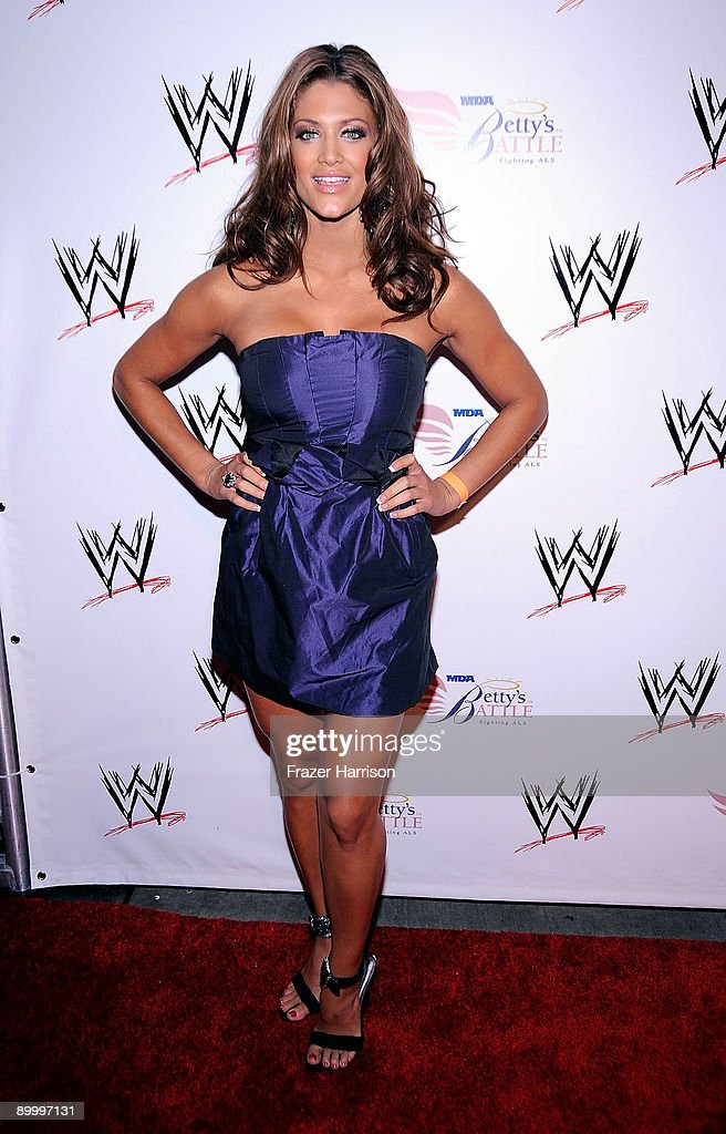 Wrestler Eve Torres arrives at the WWE's SummerSlam Kickoff Party at H-Wood Club on August 21, 2009 in Hollywood, California.