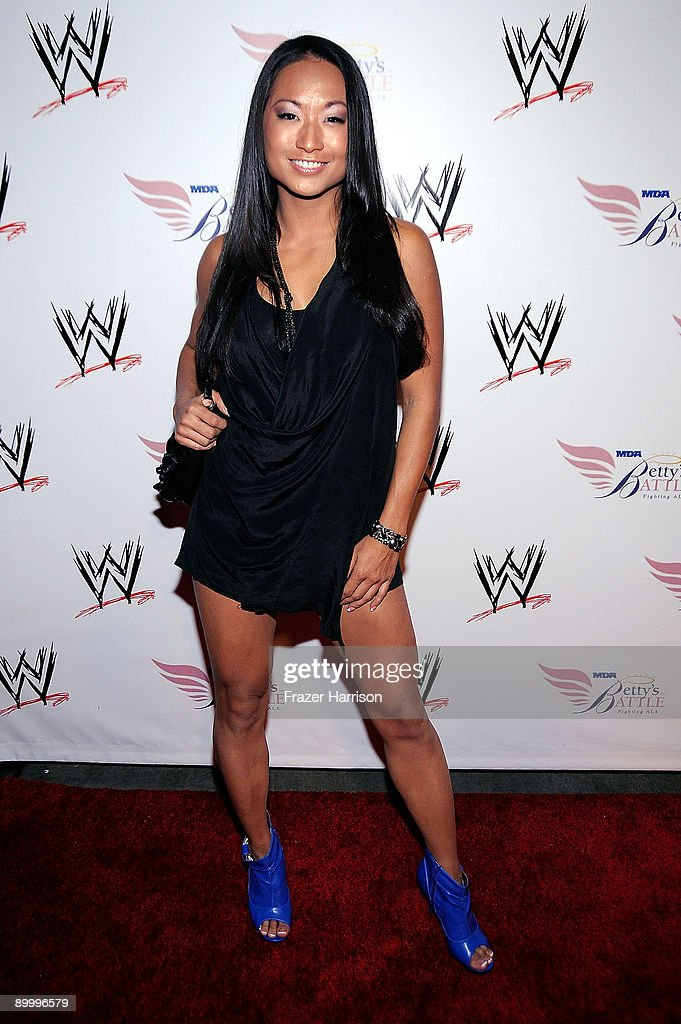 Wrestler Gail Kim arrives at the WWE's SummerSlam Kickoff Party at H-Wood Club on August 21, 2009 in Hollywood, California.