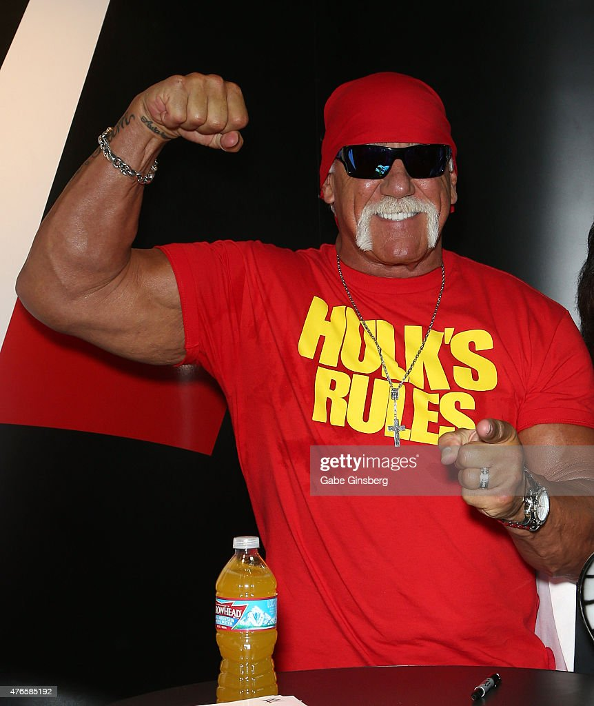 Wrestler Hulk Hogan attends the Licensing Expo 2015 at the Mandalay Bay Convention Center on June 10 2015 in Las Vegas Nevada