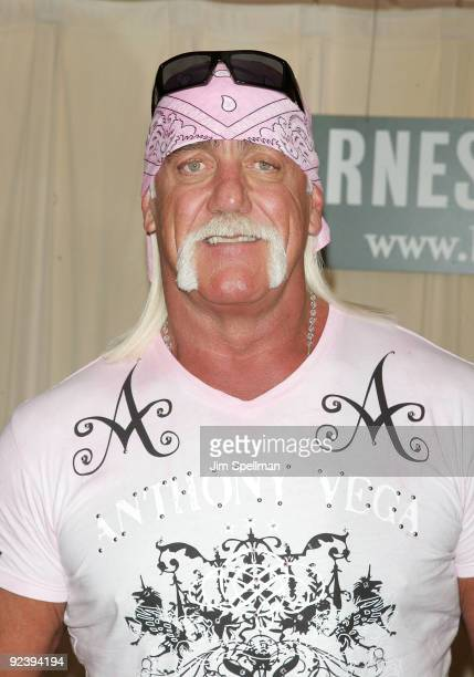 Wrestler Hulk Hogan promotes 'My Life Outside The Ring' at Barnes Noble 5th Avenue on October 27 2009 in New York City