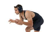 Wrestler in action