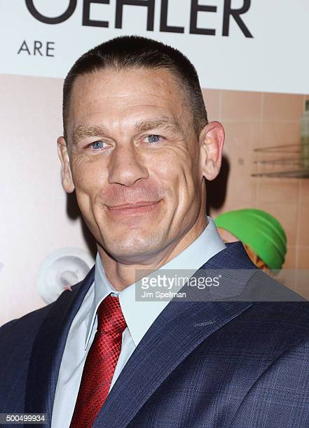 Wrestler John Cena attends the 'Sisters' New York premiere at Ziegfeld Theater on December 8 2015 in New York City