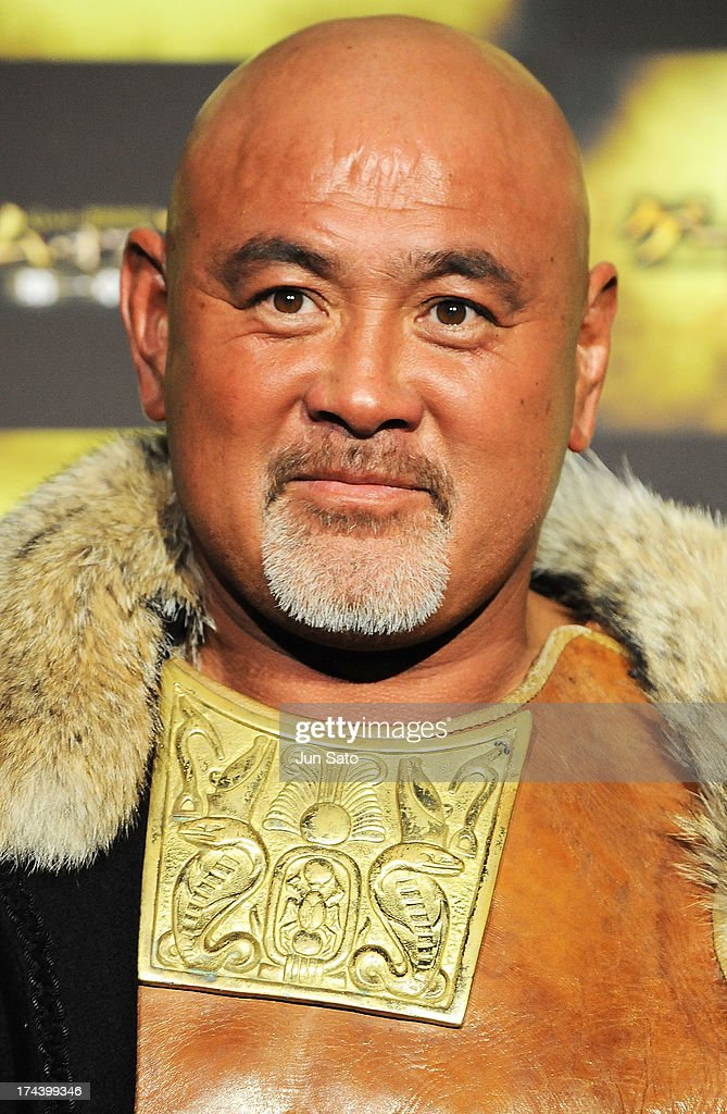 Wrestler Keiji Muto attends the 'Game of Thrones' stage greeting at Toho Cinemas Roppongi Hills on July 25, 2013 in Tokyo, Japan.